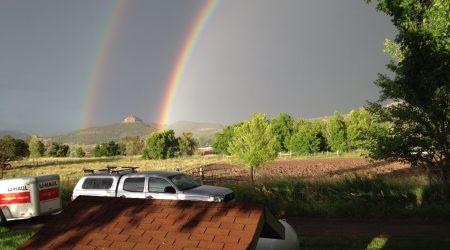 double rainbow beehive